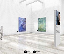 VR 空間での展覧会開催中